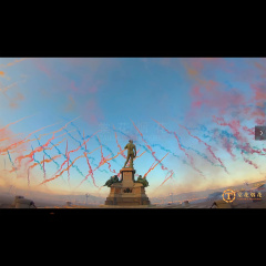意大利佛罗伦萨 2018.11.18 《空中花城》白天焰火