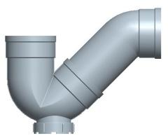 PVC单承插P型存水弯 (带检查口)-日丰管材