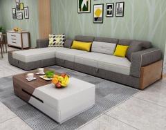 客厅家具-现代风格储物布艺沙发-A家家居