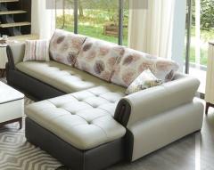 客厅家具-现代风格头层牛皮沙发-A家家居