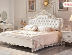 卧室家具-法式奢华-公主床-A家家居