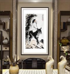 家装配画-果老骑驴-扬剑画廊