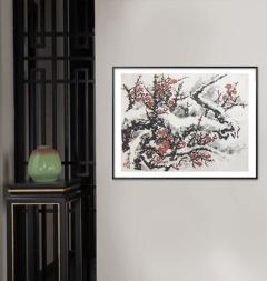 家装配画-寒梅迎雪-扬剑画廊