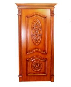 卧室门-尊贵雕花木门-高鹏原木定制