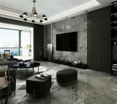 大理石墙面-仿大理石电视背景墙系列4-玉钙环保建材