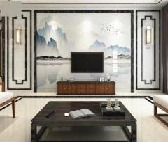 大理石墙面-仿大理石电视背景墙系列3-玉钙环保建材