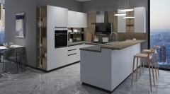 不锈钢橱柜-现代简约风亚丁3-金牌厨柜