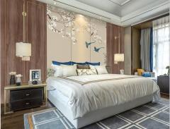 护墙板-新中式风卧室实木定制-如意屋定制馆