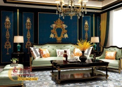 墙布-轻奢风格圣马克宝蓝-城市领秀软装