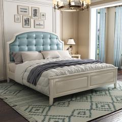 卧室家具-美式轻奢主卧双人床-宽邸家居