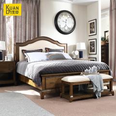 卧室家具-美式乡村主卧双人床田纳西-宽邸家居