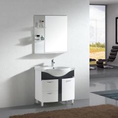 浴室柜-落地式简约浴室风-金牌卫浴