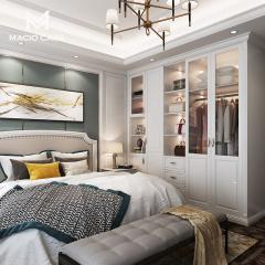 卧室定制-简约欧式卧室衣柜定制-玛格全屋定制
