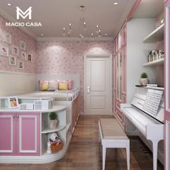 儿童房定制-榻榻米钢琴房-玛格全屋定制