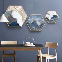 家装配画-新中式创意六边形苍海静-吉合祥家居饰品馆