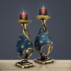 工艺饰品-欧式复古风格满天星烛台-吉合祥家居饰品馆