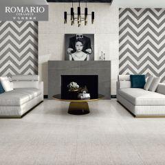 抛釉砖-时尚布纹比尔拉铂灰-罗马利奥瓷砖